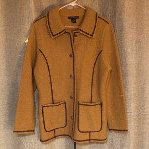 Sarah Spencer wool coat brown small